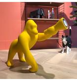 Qeeboo Qeeboo Vloerlamp - Tafellamp Kong XS - geel H 70 cm