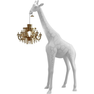 Qeeboo Floor Lamp Giraffe in Love XS - white