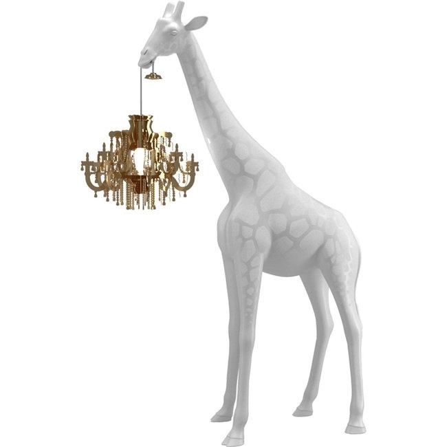 Qeeboo Vloerlamp - Staanlamp Giraffe In Love XS - wit