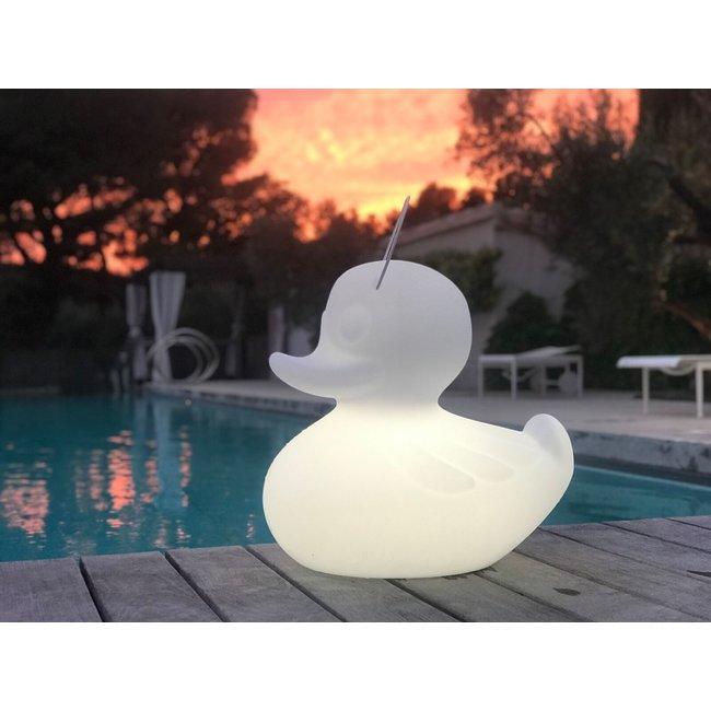 Goodnight Light Duck Duck Lampe XL weiß - Farbwechsel