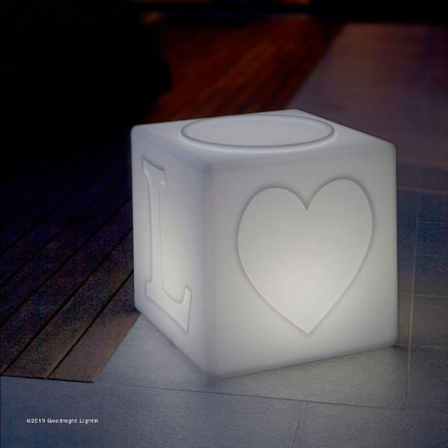 Goodnight Light - The LOVE Lamp - changing colours - stackable