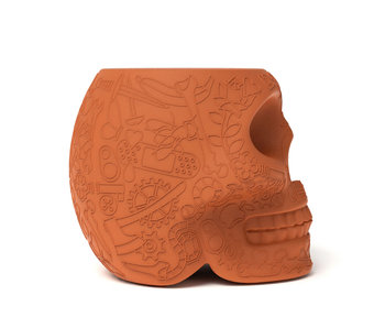 Stool - Side Table Mexico Kruk - terracotta