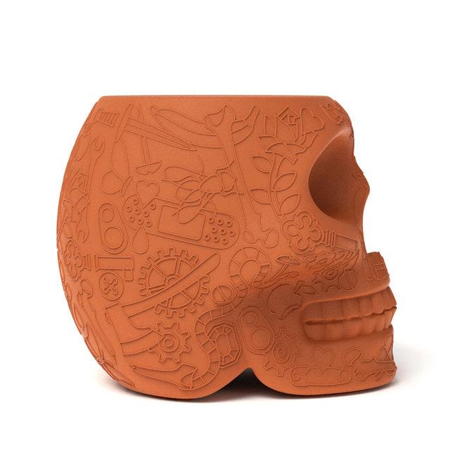 Qeeboo Stool - Side Table Mexico - terracotta