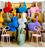 Qeeboo Qeeboo Chaise - Tabouret Rabbit Chair Baby - rose - H 53 cm