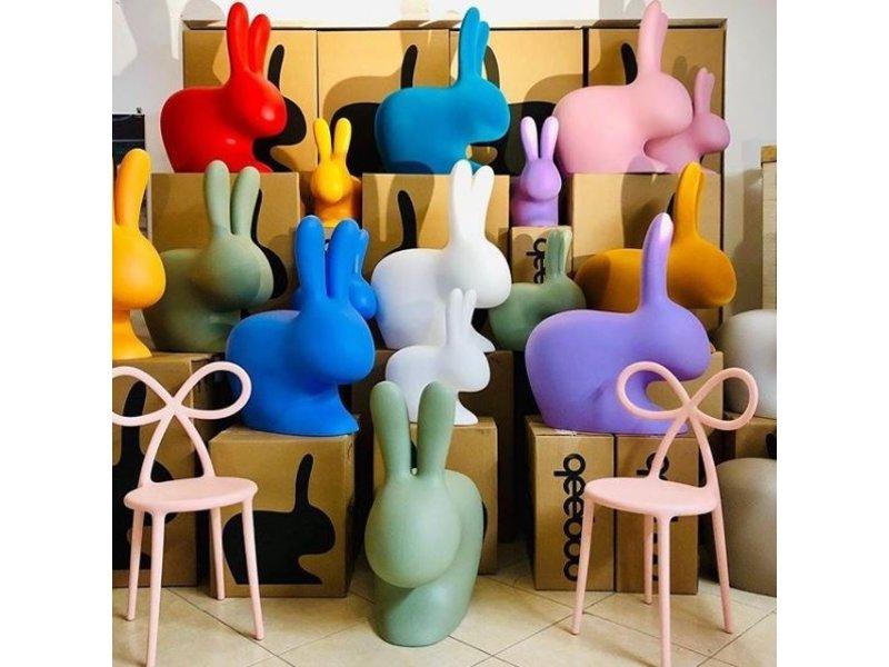 Qeeboo Qeeboo Stoel - Kruk Rabbit Chair Baby- roze H 53 cm