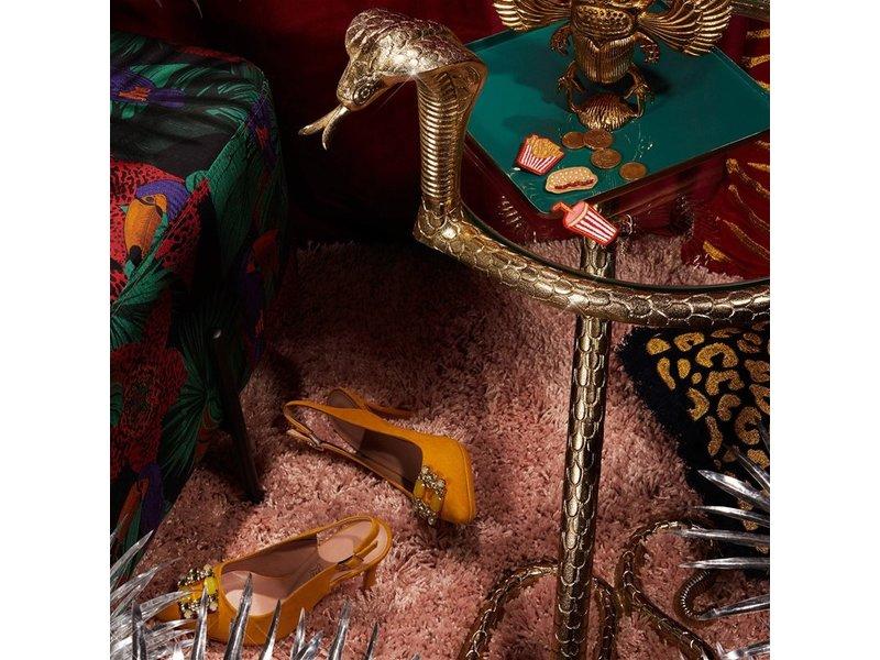 &klevering &Klevering - Side Table Cobra Snake - gold - H 74 cm