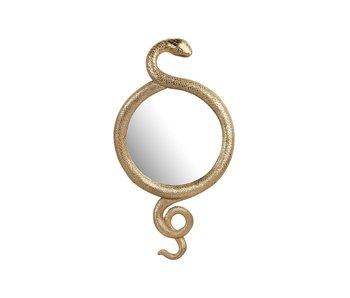 Miroir Mural Serpent - doré
