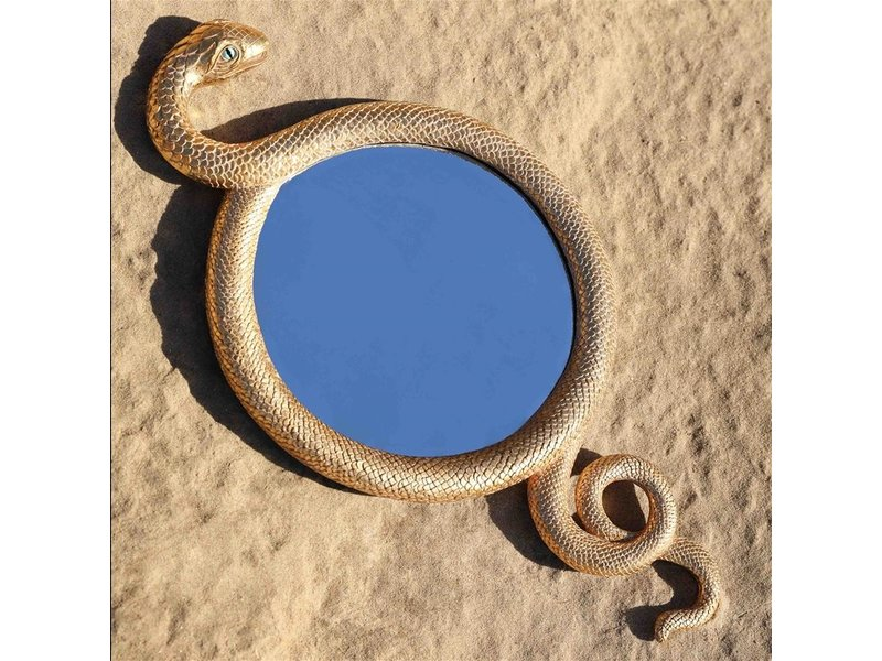 &klevering &Klevering - Miroir Mural Serpent - doré