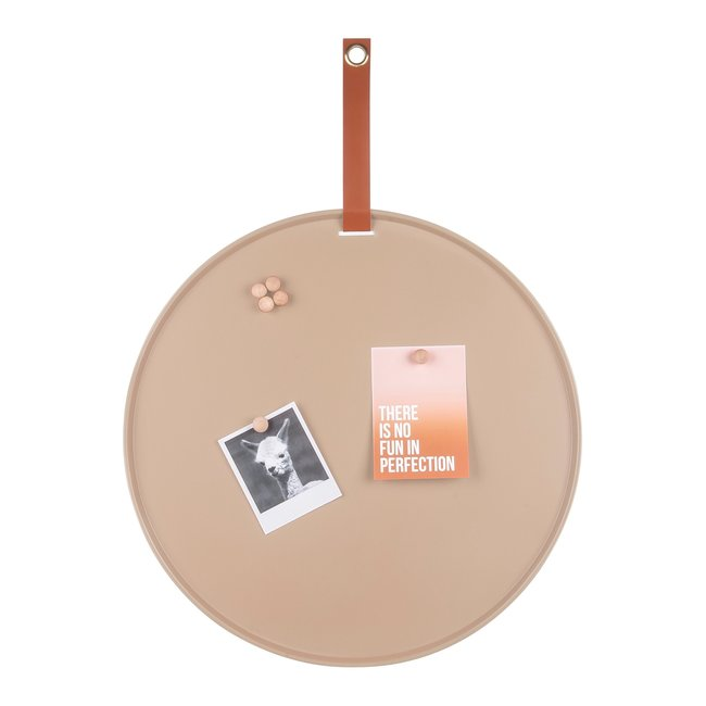Present Time - Magneetbord Perky - zandkleur - 50 cm