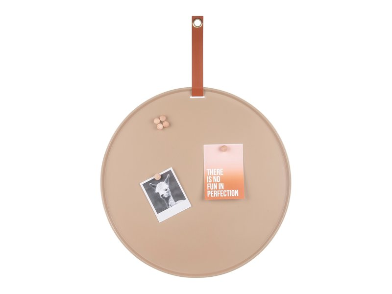 Present Time Present Time - Magnetic Board - Memo Board Perky  - sand brown