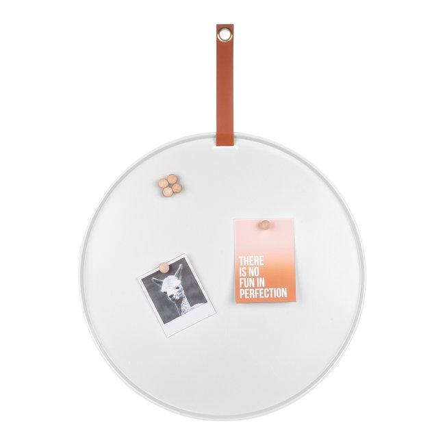 Present Time - Magnetic Board - Memo Board Perky  - white