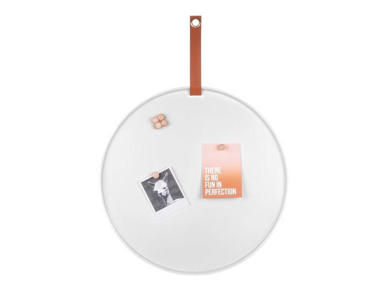 Present Time Present Time - Magnetic Board - Memo Board Perky  - white