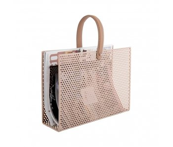 Magazine Rack Perky Mesh - sand brown