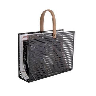 Present Time Magazine Rack Perky Mesh - black