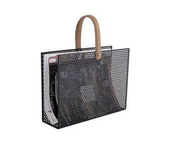 Magazine Rack Perky Mesh - black