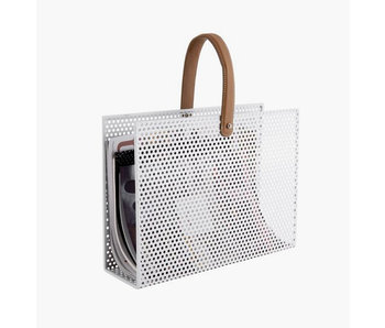 Magazine Rack Perky Mesh - white