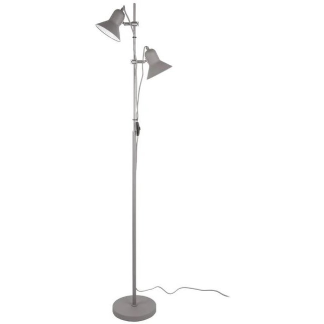 Leitmotiv Floor Lamp Slender - grey