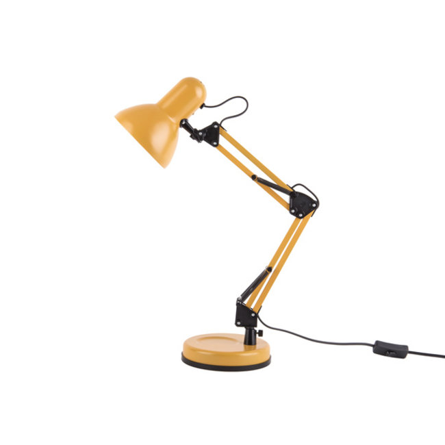 Leitmotiv Desk Lamp Hobby - matt ochre yellow