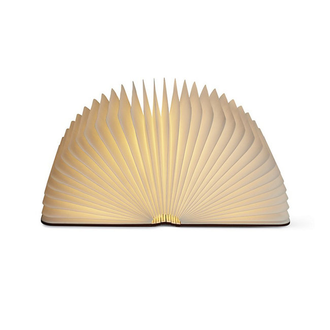 Gingko Smart Book Light - bois de noyer - grand