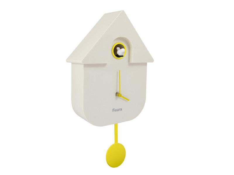Fisura Fisura Klok - Koekoeksklok Cuckoo House - wit