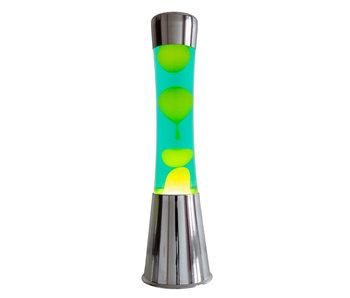 Lava Lamp - chroom - gele lava
