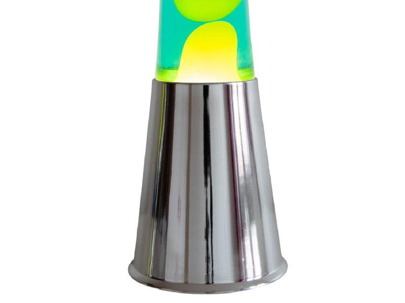Fisura Fisura Lava Lamp - chrome - yellow lava, green liquid