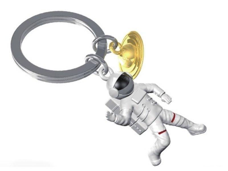 Metalmorphose Metalmorphose Keyring - Key Fob - Astronaut & Saturn