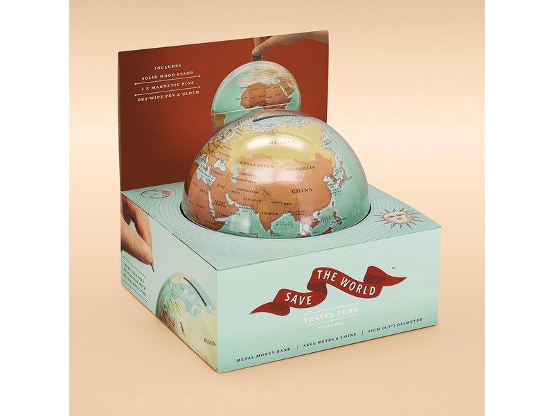 Luckies Luckies Money Box Save The World - globe