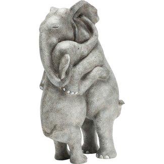 Karé Design Statue Calin d'Elephants
