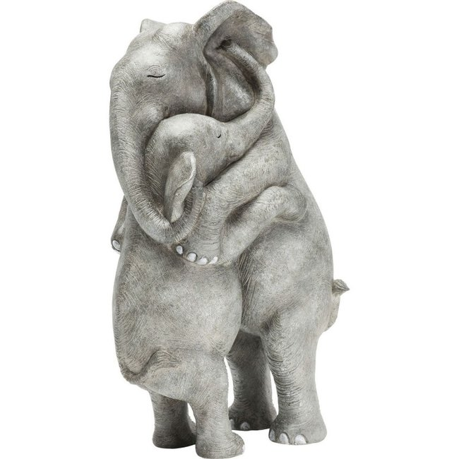 Karé Design - Statue  Calin d'Elephants - H 36 cm