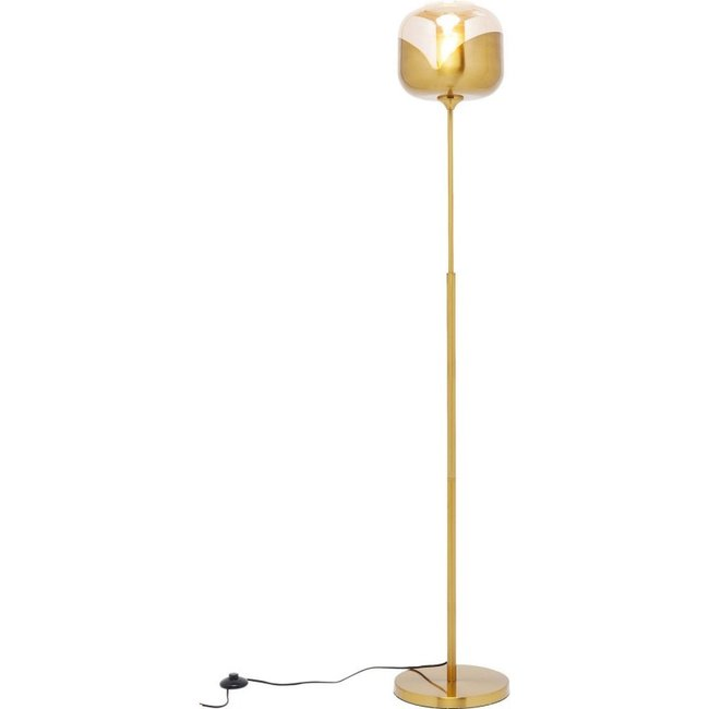 Karé Design - Lampadaire Goblet Ball - doré - H 160 cm