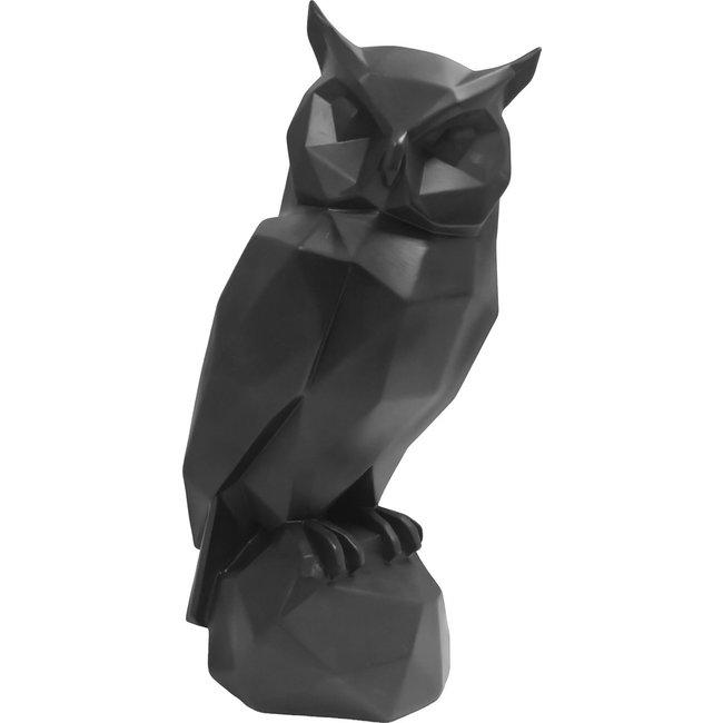 Present Time - Beeld Origami Uil - zwart