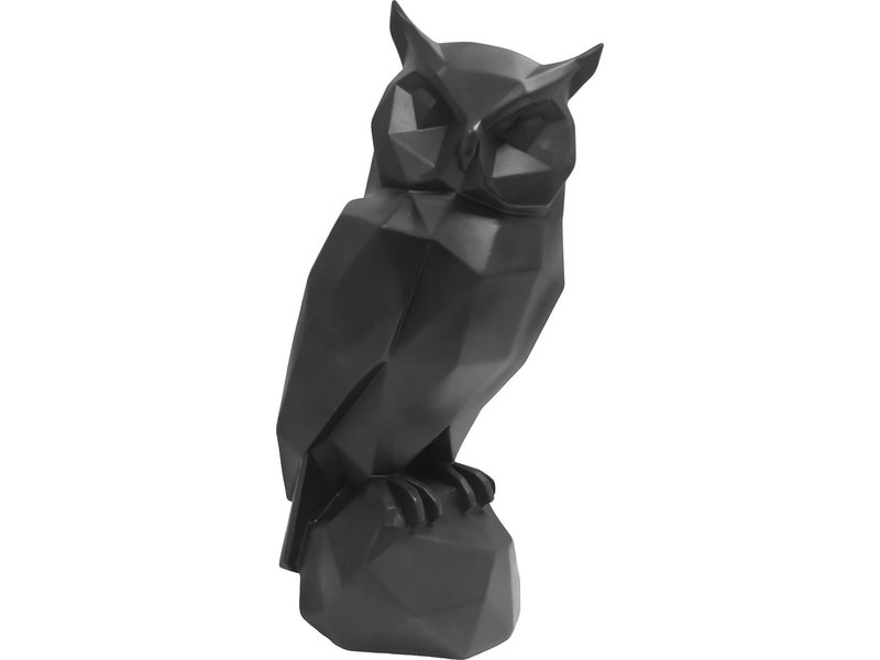 Present Time Present Time - Statue Origami Hibou - noir