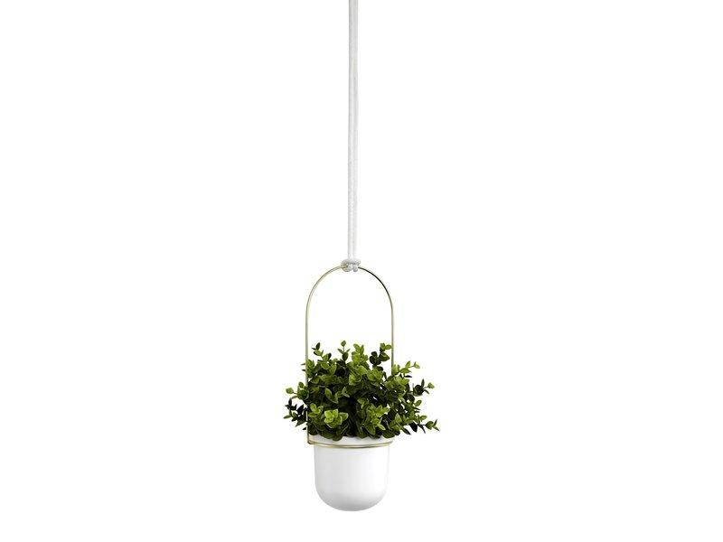 Umbra Umbra - Bloempot Triflora - hangend - wit/goud