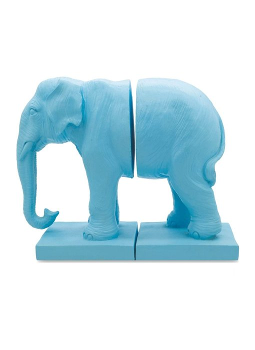 Bookend Blue Elephant