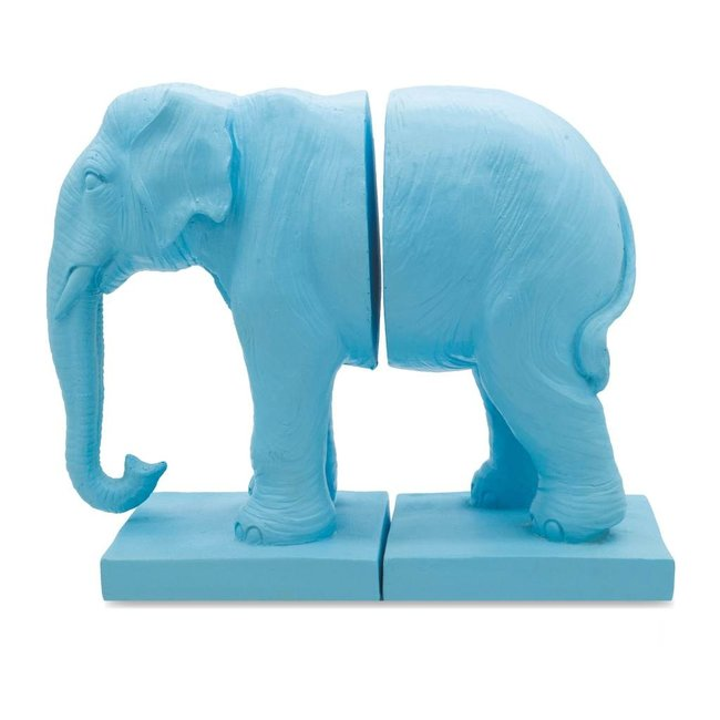 Loco Lama Bookend Blue Elephant
