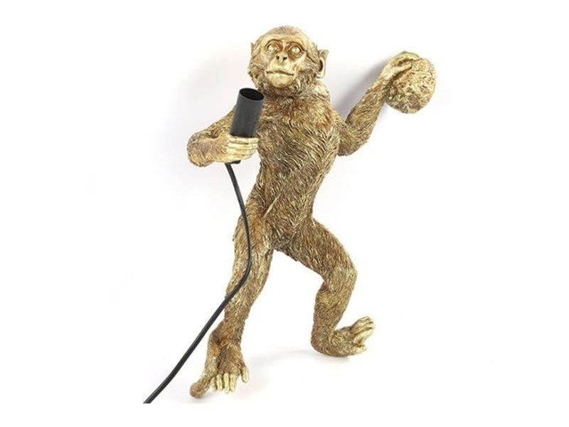 Wandlamp Aap Cheeta - goud