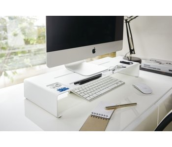 PC Monitor Stand Tower - white