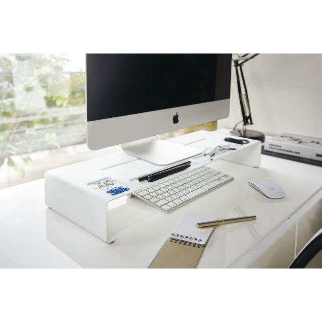 Yamazaki - PC Monitor Stand Tower - white