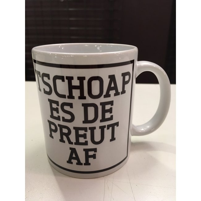 Urban Merch Beker Tschoap Es De Preut Af