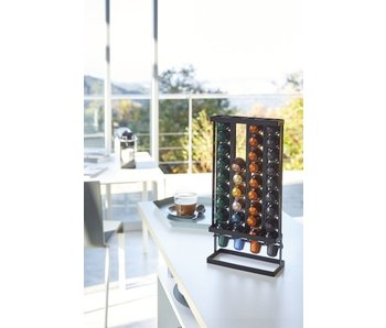 Coffee Pods Holder Tower - black