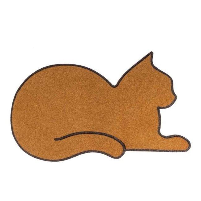 Doormat Cat - brown