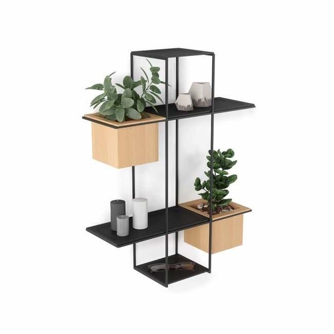 Umbra - Wall Shelf & Plant Pot Cubist Multi