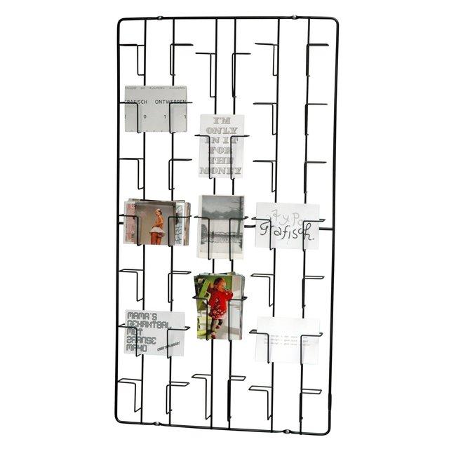 Puhlmann - Card Frame - Photo Rack - black - wall - H 98 cm