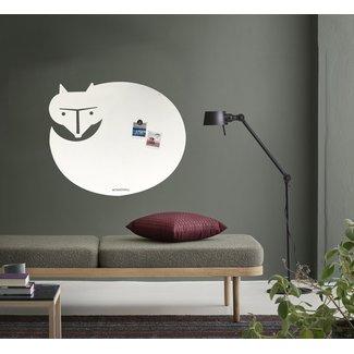 FAB5 Wonderwall Whiteboard - Magneetbord Witte Vos XL
