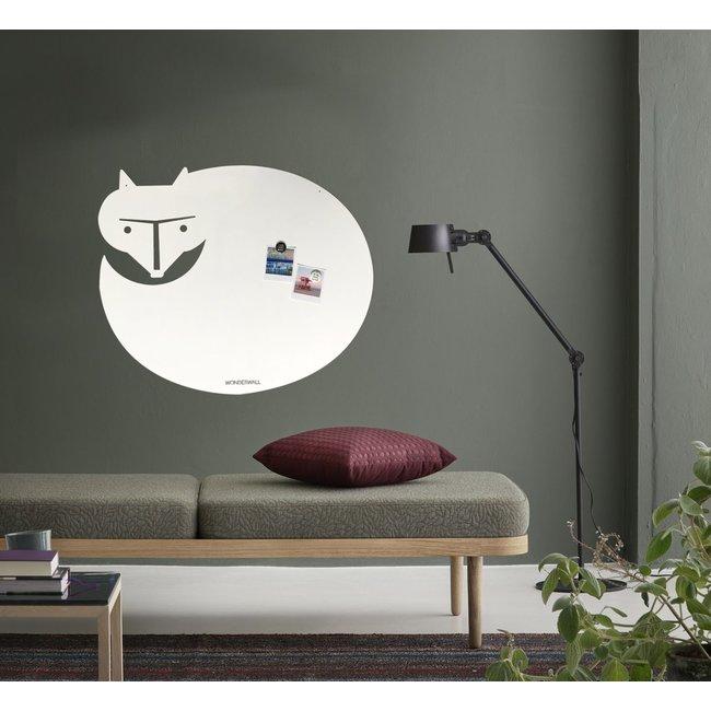 Wonderwall Tableau Magnétique - Tableau Blanc - Renard Blanc XL