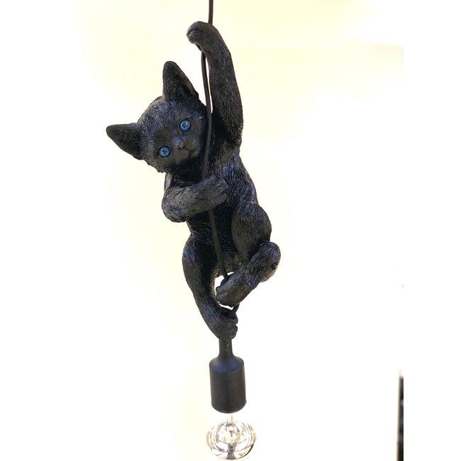 Hängelampe - Tierlampe Katze - schwarz