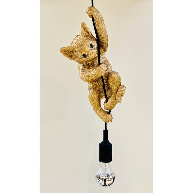 Hanglamp - Dierenlamp Kat - goud