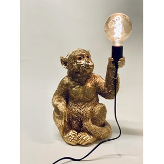 Table Lamp Monkey Gold - sitting