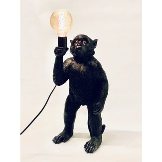 Lampe de Table Singe Noir - debout